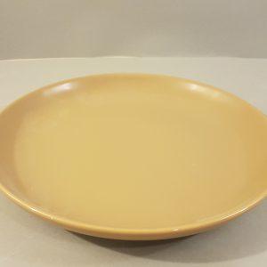 Kaleidos Piatto torta in ceramica color caramello