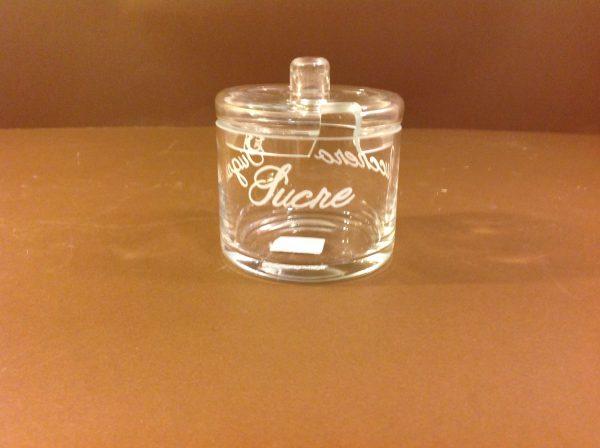 Simple Day Zuccheriera in vetro con scritte in bianco