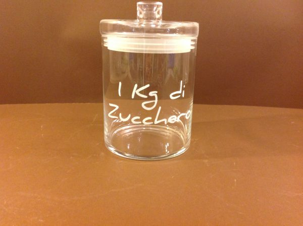 Simple Day Barattolo in vetro con scritta Zucchero