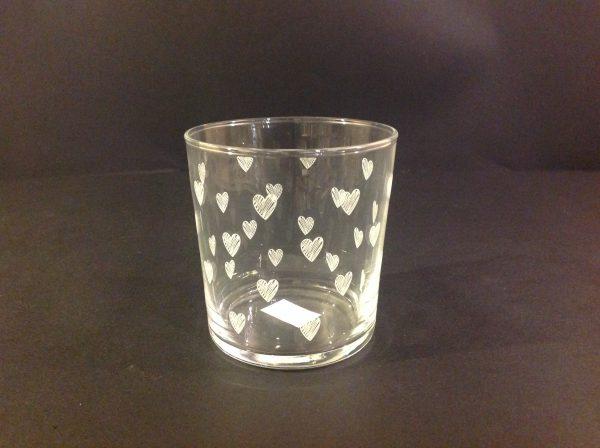 "Simple Day Bicchiere ""Cuori"""