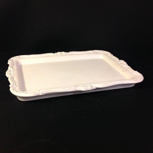 Coccole di Casa Vassoio in resina bianca bordi lavorati- Coccole di Casa