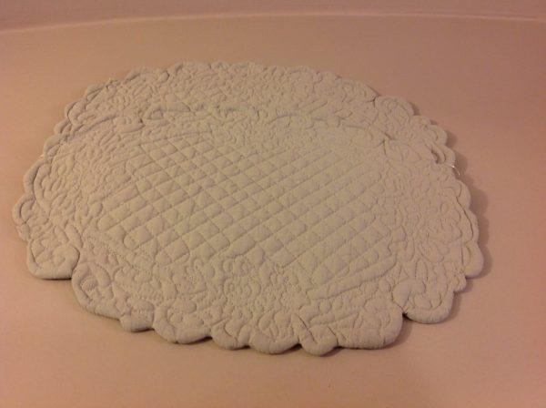 Blanc Mariclò Boutis ovale piccolo melange tortora