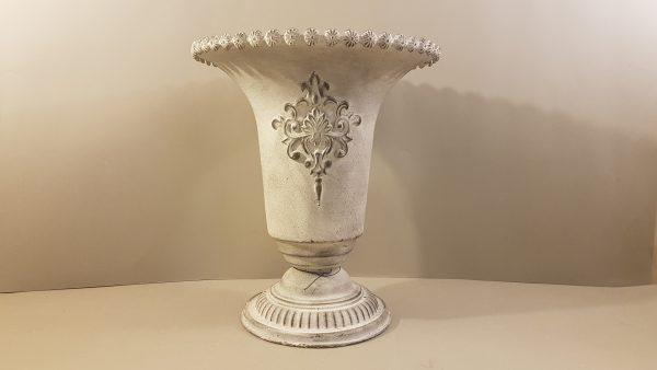 Bruco Vaso svasato in metallo con fregio Bruco