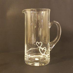 Simple Day Caraffa in vetro con decoro Cuori