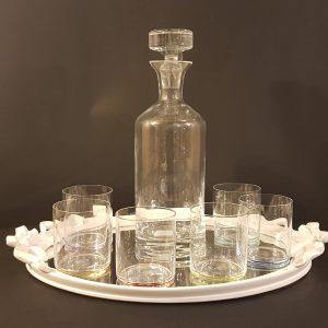 Côté Table Bottiglia da liquore in vetro liscio