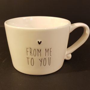 """Bastion Collection Tazza colazione """"From Me To You"""""""