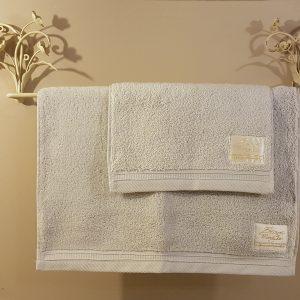 Blanc Mariclò Set 2 Asciugamani tinta unita grigi Blanc