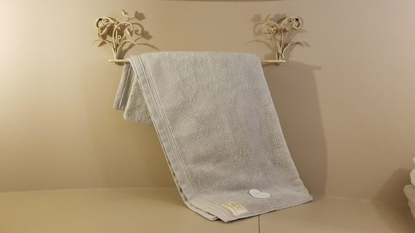 Blanc Mariclò Telo doccia in spugna grigio perla 90x150 Blanc