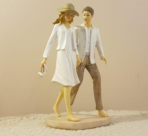 coppia in resina