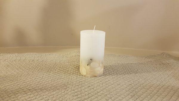 candela con conchiglie