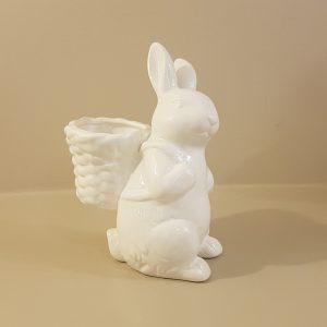 coniglio bianco con cestino