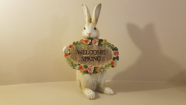 coniglio scritta welcome spring