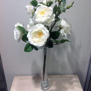 ramo 5 rose bianche