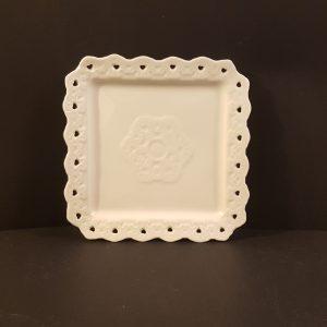 piatto quadrato cuori