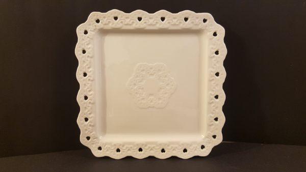 piatto ceramica bordo cuori