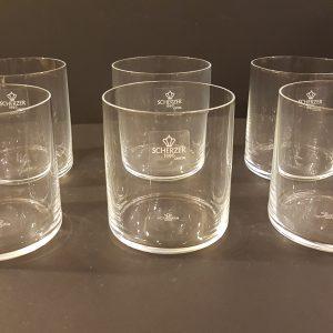 set 6 bicchieri cristallino