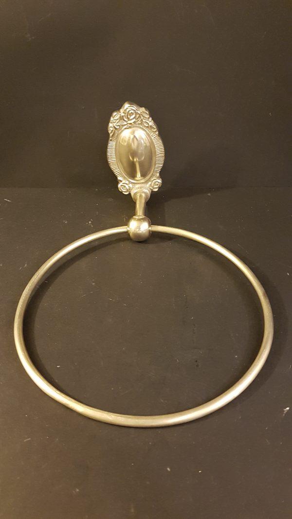 anello portasciugamano metallo anticato