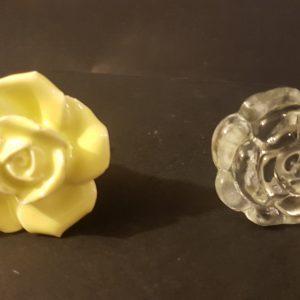 pomelli fiori ceramica e vetro