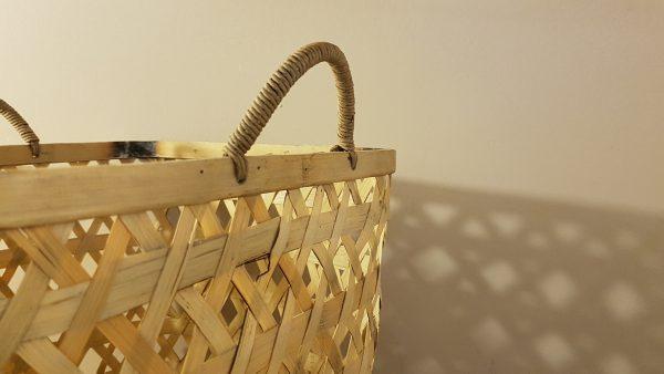 cesto quadrato bambu