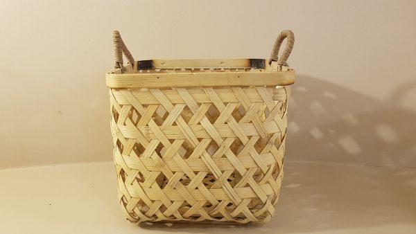 cesto quadrato bambù