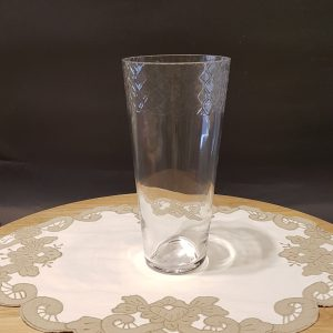 vaso vetro decoro losanghe