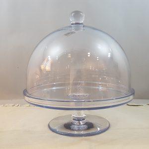 campana 28 cm + alzata 29,7 cm acrilico trasparente
