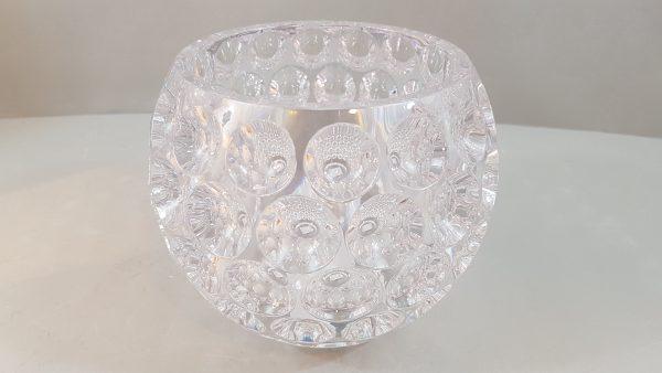 Vaso/contenitore in acrilico trasp decoro bolle gr