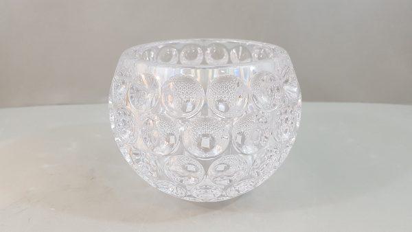 Vaso/contenitore acrilico trasp decoro bolle medio