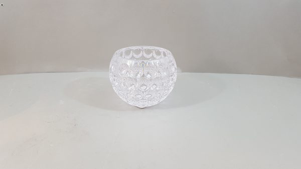 vaso/contenitore in acrilico trasp decoro bolle picc