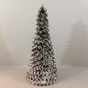 albero di natale resina argento