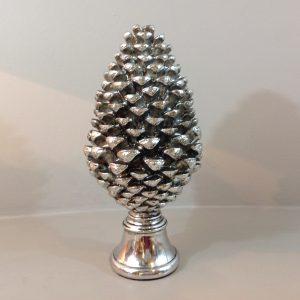 pigna in resina argento