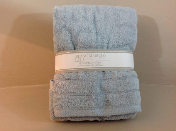 coppia asciugamani spugna