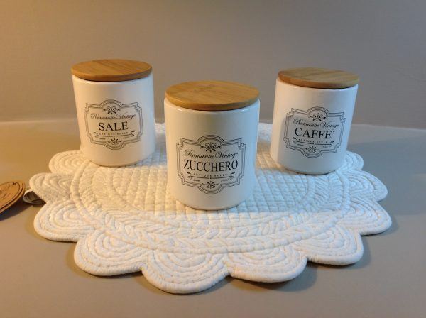 Gicos Barattolo in ceramica Biscotti con tappo in legno