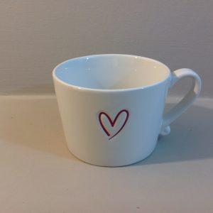 Bastion Collection Tazzone ceramica panna con cuore grigio