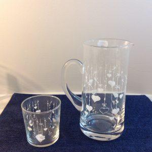 brocca e bicchiere