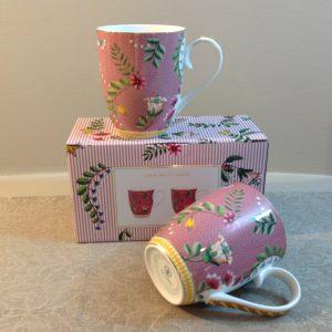 set 2 mug rosa