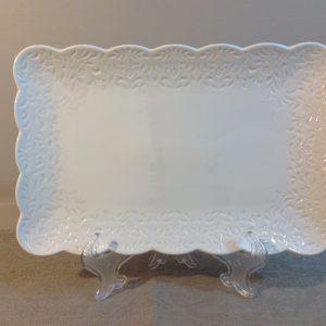 piatto rettangolare bianco