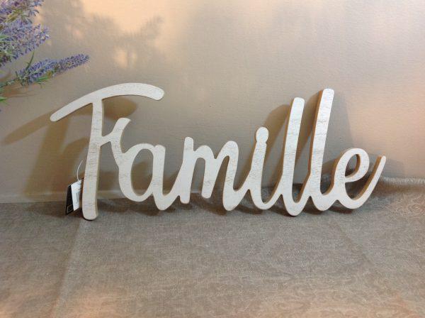 scritta famille