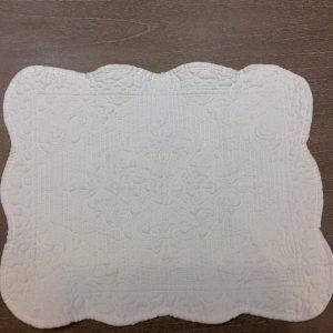 L'Atelier 17 Tovaglietta in boutis bianco rettangolare