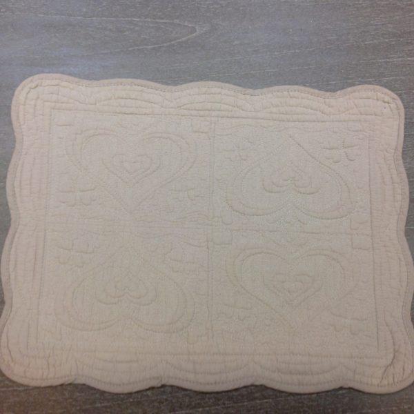 Blanc Mariclò Tovaglietta rettangolare in boutis beige Blanc