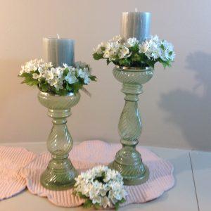 EDG (Enzo De Gasperi) Ghirlanda girocandela con fiorellini bianchi EDG