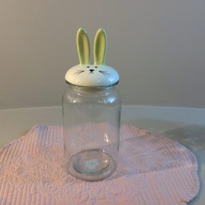 Hoff Interieur Barattolo in vetro con coperchio in ceramica con coniglio verdino Hoff