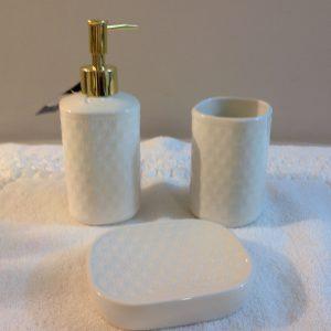 Preziosa Luxury Set 3 pezzi in ceramica panna