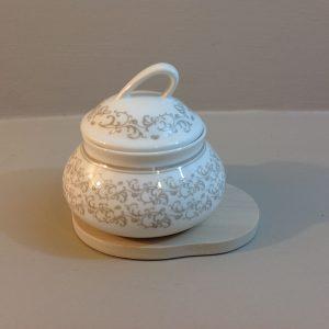 Brandani Caffettiera panna con manico in legno 3 tazze