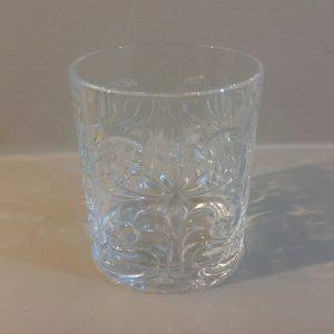 Brandani Set 6 bicchieri vetro lavorato