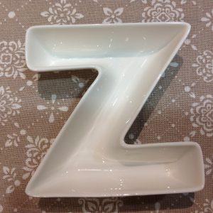 Brandani Lettera Z in porcellana bianca