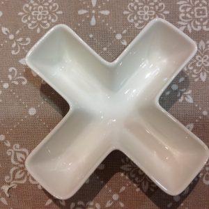 Brandani Lettera X in porcellana bianca