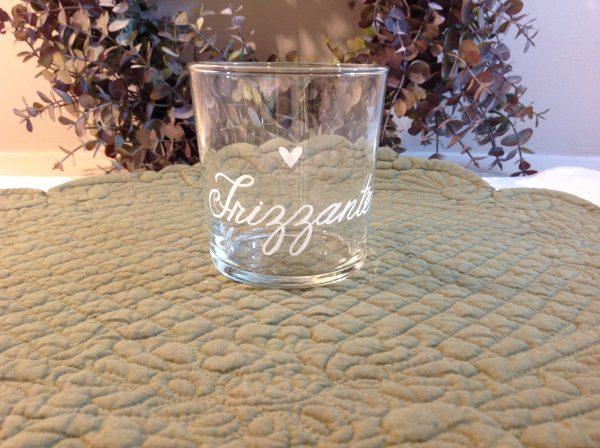 Simple Day Bicchiere tumbler scritta bianca Naturale con cuore