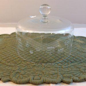 Simple Day Campana in vetro con fantasia torte in bianco