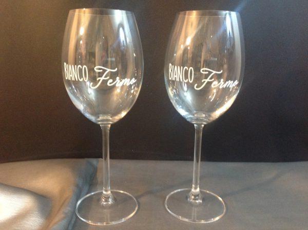 Simple Day Set 2 bicchieri con scritta bianca Bianco fermo